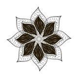 Mandala abstracta del negro del tard de la flor Fotos de archivo