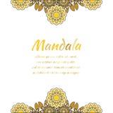 Mandala abstracta del oro Imagen de archivo libre de regalías