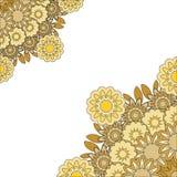 Mandala abstracta del oro Imágenes de archivo libres de regalías