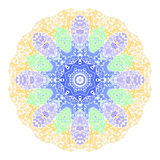 Mandala abstracta Frontera ornamental floral Imagen de archivo