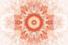 Mandala abstrait de fleur sur le fond blanc Photos libres de droits