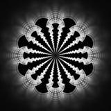 Mandala abstrait de fleur sur le fond noir Photographie stock