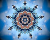 Mandala abstrait de miroir de ville illustration stock