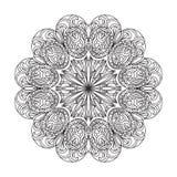 Mandala abstrait de zentangle Images libres de droits