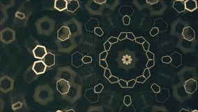 Mandala abstrait géométrique à l'arrière-plan, modèles faits une boucle de l'or 3D banque de vidéos