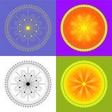 Mandala abstrakcjonistyczny kwiecisty geometryczny round ornament Ilustracja Wektor