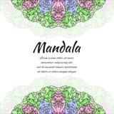 Mandala abstrata Beira decorativa floral Teste padrão redondo, estilo oriental Imagens de Stock