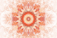 Mandala abstrata da flor no fundo branco Fotos de Stock Royalty Free