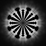 Mandala abstrata da flor no fundo preto Fotografia de Stock