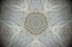 Mandala abstrata da rede da grade da malha Fotografia de Stock