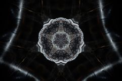 A mandala abstrata 5 da vela tomou partido estrela Fotos de Stock
