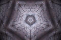 Mandala abstrata do pentagon imagem de stock