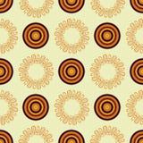 Mandala abstrata do vetor em um estilo africano Teste padrão sem emenda Cópia de matéria têxtil ilustração stock