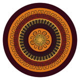 Mandala abstrata do vetor no estilo africano ilustração stock