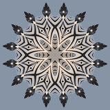 Mandala abstrata, fundo do vetor Foto de Stock