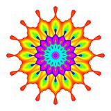 Mandala abstrata no fundo branco Imagem de Stock Royalty Free