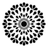 Mandala abstrata Oriental, redemoinho imagem de stock