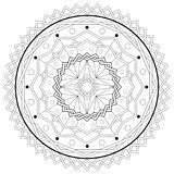 Mandala Adult Coloring Book Template - Printable vector eps10. Mandala - Geometric Adult Coloring Book Template - hobby, relaxation, outline - Printable vector Royalty Free Stock Photography