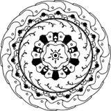 Mandala affascinante dello zentangle dell'edera illustrazione di stock