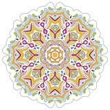 Mandala aislada en blanco Diseño adornado tradicional Foto de archivo libre de regalías