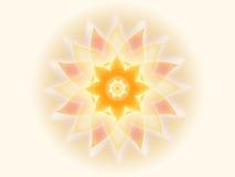 Mandala alaranjada 001-1 Foto de Stock Royalty Free
