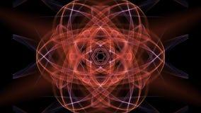 A mandala alaranjada com efeito da luz obscuro para a energia que obtém, treinamento espiritual, concentração exercita video estoque