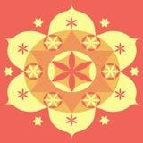 Mandala amarela Imagem de Stock Royalty Free