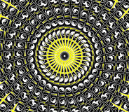 Mandala amarela de Sun Imagem de Stock Royalty Free