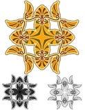 Mandala amarilla del antemion de la mostaza Imagenes de archivo