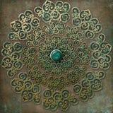 Mandala antique d'or Photographie stock libre de droits