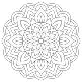 Mandala antique tribal Est rond symétrique Photographie stock libre de droits