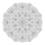 Mandala for antistress coloring book. Mandala for coloring book page for kids and adults. Patterned Design Element. Zentangle style Stock Photos