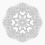 Mandala. Antistress coloring pages for adults. Monochrome circular lace oriental pattern. Coloring Book. Ethnicity round ornament. Arabic, Islamic, moroccan Royalty Free Stock Image
