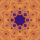 Mandala arancione Immagine Stock Libera da Diritti