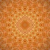 Mandala arancione scuro Fotografie Stock Libere da Diritti