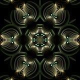 Mandala argenté gravé et bejeweled en relief Images stock