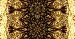 Mandala Art with a black repetitive pattern. Very detailed mandala Art with a black repetitive pattern in a reflection with itself royalty free illustration