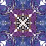MANDALA art deco purpury Z bielu centrum I błękit, CELTYCKI wizerunek W centrum, ABSTRAKCJONISTYCZNY tło, błękit, purpura, brąz,  ilustracja wektor