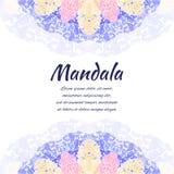 Mandala astratta Confine ornamentale floreale Fotografia Stock