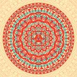 Mandala astratta del fiore Elemento etnico decorativo per progettazione Fotografie Stock