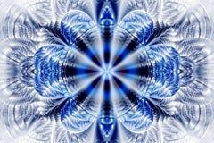 Mandala astratta del fiore su fondo bianco Immagini Stock