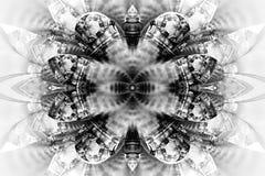 Mandala astratta del fiore su fondo bianco Fotografia Stock Libera da Diritti