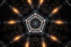 Mandala astratta della candela Immagine Stock Libera da Diritti