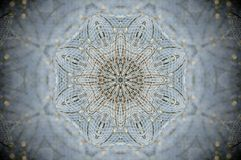 Mandala astratta della rete di griglia della maglia Immagine Stock Libera da Diritti