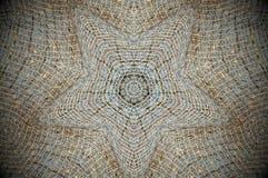 Mandala astratta della rete di griglia della maglia Fotografia Stock