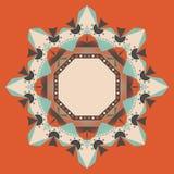Mandala astratta, fondo di vettore Fotografia Stock Libera da Diritti