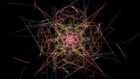 Mandala astratta luminosa di illuminazione royalty illustrazione gratis