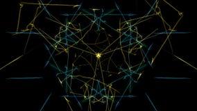Mandala astratta luminosa di illuminazione illustrazione di stock