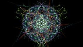 Mandala astratta luminosa di illuminazione illustrazione vettoriale