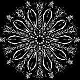 Mandala astratta Progettazione di Digital con le linee funky Immagine Stock